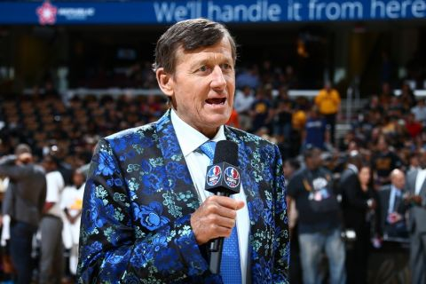 CLEVELAND, OH - JUNE 16:  Craig Sager attends the game between the Golden State Warriors and the Cleveland Cavaliers during Game Six of the 2016 NBA Finals on June 16, 2016 at Quicken Loans Arena in Cleveland, Ohio. NOTE TO USER: User expressly acknowledges and agrees that, by downloading and/or using this Photograph, user is consenting to the terms and conditions of the Getty Images License Agreement. Mandatory Copyright Notice: Copyright 2016 NBAE (Photo by Nathaniel S. Butler/NBAE via Getty Images)