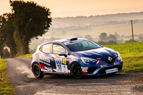 40 DI FANTE Romain, CHIAPPE Patrick, Renault Clio RS line, action during the Rallye Coeur de France 2021, 5th round of the Championnat de France des Rallyes 2021, from September 23 to 25 in Savigny-sur-Braye, France - Photo Bastien Roux / DPPI