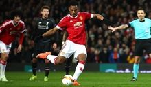"""""""MANCHESTER, ENGLAND - MARCH 17:  Anthony Martial of Manchester United scores their first goal from the penalty spot during the UEFA Europa League round of 16, second leg match between Manchester United and Liverpool at Old Trafford on March 17, 2016 in Manchester, England.  (Photo by Clive Brunskill/Getty Images)"""""""