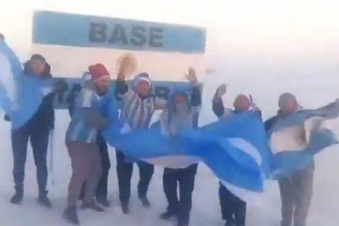 Τρέλα και στην Ανταρκτική για την πρόκριση της Αργεντινής (Video)