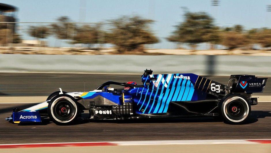 George Russell (GBR) Williams Racing FW43B.  Formula One Testing, Sunday 14th March 2021. Sakhir, Bahrain.