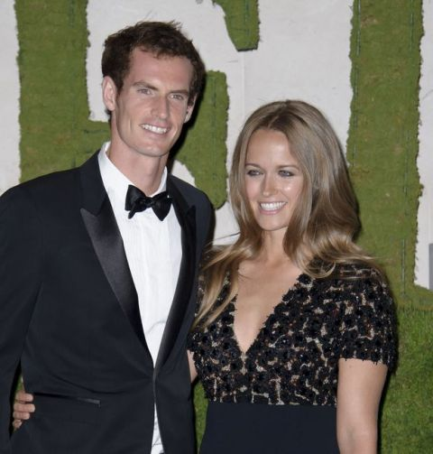 British tennis player and winner of Wimbledon 2013, Andy Murray, and his partner Kim Sears arrive for the Wimbledon Champions Dinner 2013, London, Sunday, July 7, 2013. (Photo by Jonathan Short/Invision/AP)