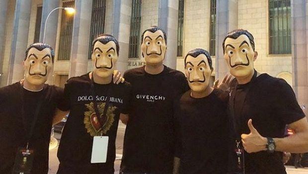 Ισπανοί ποδοσφαιριστές πήγαν στο Νομισματοκοπείο με μάσκες... La Casa De Papel