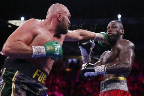 Ο Tyson Fury με τον Deontay Wilder