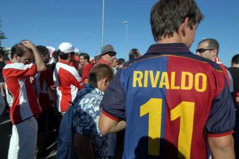 21/7/2004: Ο Ριβάλντο στην Ελλάδα για τον Ολυμπιακό