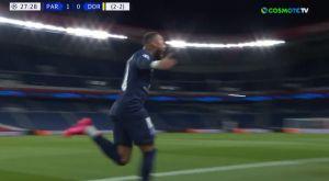 Παρί Σεν Ζερμέν – Ντόρτμουντ: Εξαιρετική κεφαλιά του Νεϊμάρ για το 1-0