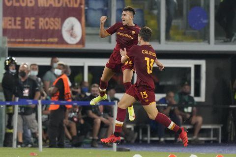 Ο Στεφάν Ελ Σααραουί πανηγυρίζει γκολ με την Ρόμα εις βάρος της ΤΣΣΚΑ Σόφιας | 16 Σεπτεμβρίου 2021
