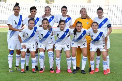 Η ενδεκάδα της Εθνικής Γυναικών πριν το ματς με τη Γαλλία | 17 Σεπτεμβρίου 2021