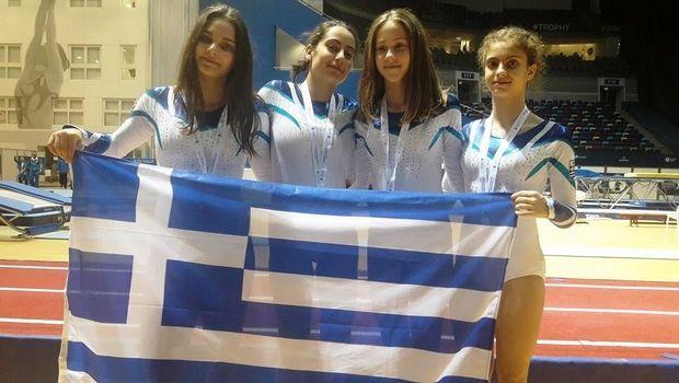 Χάλκινο μετάλλιο για την Εθνική νεανίδων στο ευρωπαϊκό τραμπολίνο