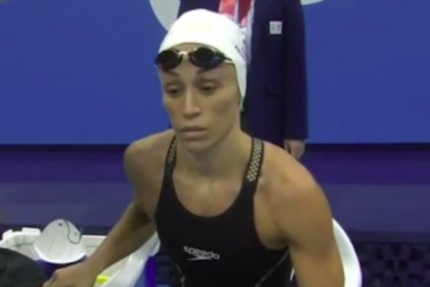 Η Καρολίνα Πελενδρίτου στον τελικό της κολύμβησης