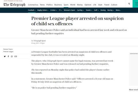 Το δημοσίευμα της Telegraph