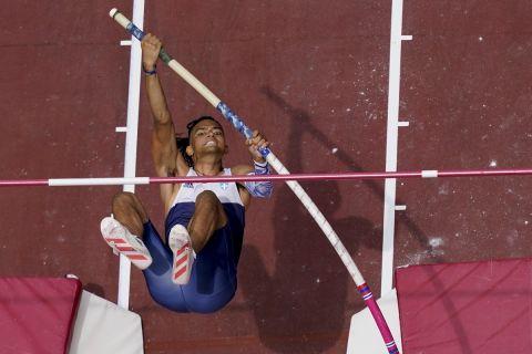 Ο Εμμανουήλ Καραλής κατά τη διάρκεια των Ολυμπιακών Αγώνων του Τόκιο