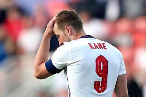 """Ο Χάρι Κέιν της Αγγλίας σε στιγμιότυπο του φιλικού αγώνα με την Αυστρία στο """"Ρίβερσαϊντ"""", Μίντλεσμπρο   Τετάρτη 2 Ιουνίου 2021"""