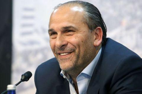 Ο Μπάνε Πρέλεβιτς σε συνέντευξη Τύπου του ΠΑΟΚ το 2018
