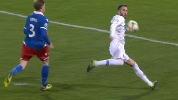 Λιχτενστάιν - Ελλάδα 0-1: Το γκολ του Φορτούνη στο 45'+1'