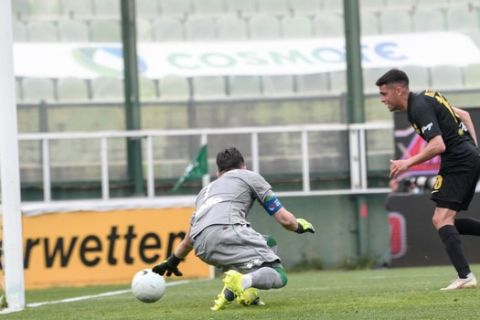Ο Ματέο Γκαρσία σε παιχνίδι κόντρα στον Παναθηναϊκό για τη Super League Interwetten