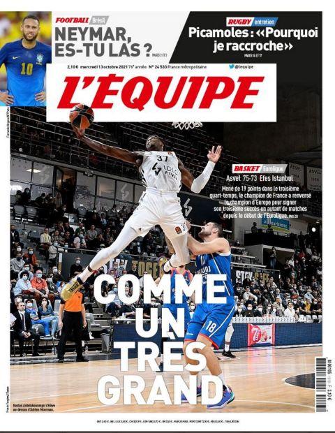 Ο Κώστας Αντετοκούνμπο στο εξώφυλλο της Equipe