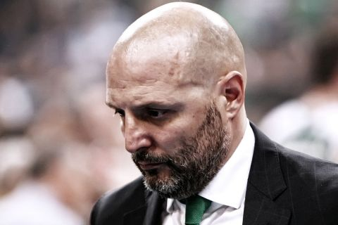 Ο Σάσα Τζόρτζεβιτς στο τελευταίο παιχνίδι του ως προπονητής του Παναθηναϊκού