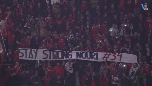 Το πανό της χρονιάς σήκωσαν στο Άμστερνταμ οι οπαδοί της Μπενφίκα