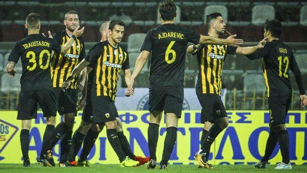 Πάρτι πρόκρισης για την ΑΕΚ, 7-0 με τον Απόλλωνα Λάρισας
