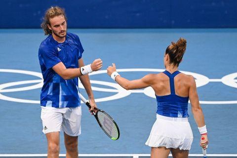 Οι Στέφανος Τσιτσιπάς και Μαρία Σάκκαρη στο μεικτό τένις στους Ολυμπιακούς Αγώνες