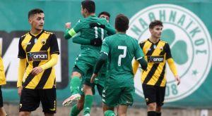 Κ19 Παναθηναϊκός – ΑΕΚ 2-0: Κυρίαρχο το τριφύλλι στο ντέρμπι