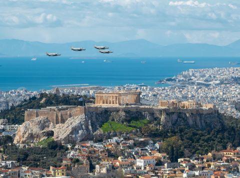 Πανοραμική όψη του βράχου της Ακρόπολης