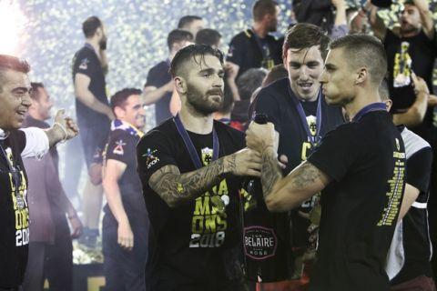 05/05/2018 Apollon Smyrnis Vs AEK for Superleague season 2017-18  Photo by Georgia Panagopoulou / Tourette Photography