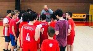 """Ολυμπιακός: Ο Σπανούλης επισκέφτηκε το """"Summer Workout"""" των Ακαδημιών"""