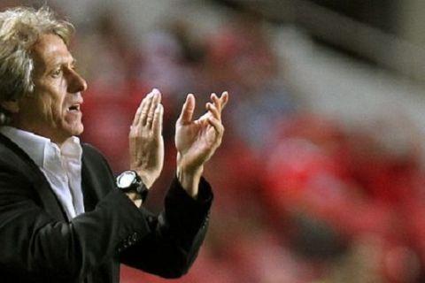 FUTEBOL -O treinador Jorge Jesus no Benfica - Anderlecht, partida do Grupo C da Liga dos Campeoes 2013/2014. Estadio da Luz, em Lisboa. Terca Feira, 17 de Setembro de 2013. (Miguel Nunes/ASF) BENFICA ANDERLECHT