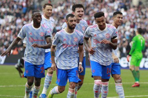 Ο Λίνγκαρντ πανηγυρίζει το γκολ που πέτυχε στη Μάντσεστερ Γιουνάιτεντ επί της Γούεστ Χαμ   19 Σεπτεμβρίου 2021