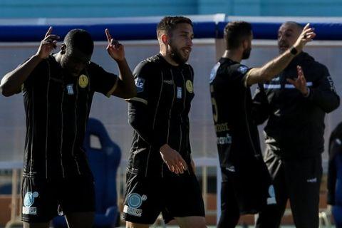 Οι παίκτες του Εργοτέλη πανηγυρίζουν γκολ κόντρα στη Ξάνθη