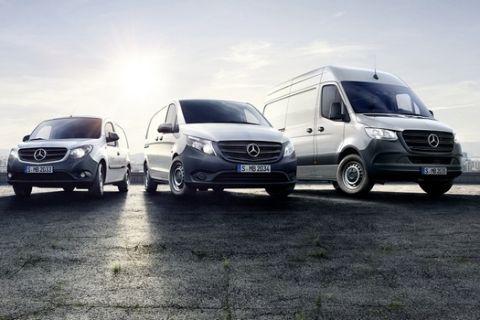 Νέα έκδοση ελαφρών επαγγελματικών Mercedes-Benz Vans