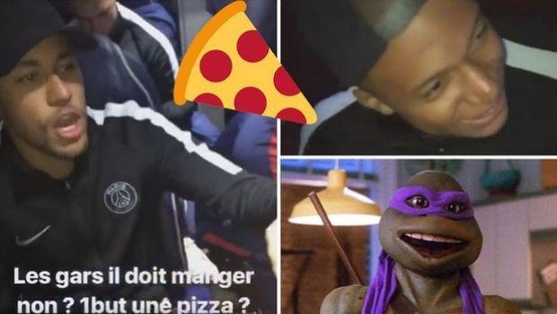 Χελωνονιντζάκι ο Εμπαπέ, πίτσες στο πούλμαν της Παρί