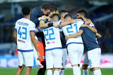 Οι παίκτες του ΠΑΣ πανηγυρίζουν τη νίκη τους επί του Παναθηναϊκού | 18 Σεπτεμβρίου 2021