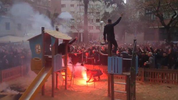 Mπαρτσελόνα - Λιόν: Επεισόδια με πέντε τραυματίες στη Βαρκελώνη (VIDEO)