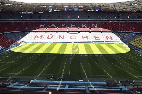 Η Allianz Arena πριν απ' την αναμέτρηση ανάμεσα στη Γαλλία και τη Γερμανία για το Euro 2020.