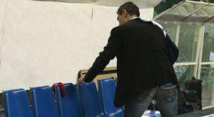 Ο Γιαννακόπουλος άφησε κόκκινο εσώρουχο στον πάγκο του Ολυμπιακού