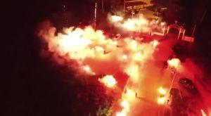 ΠΑΟΚ: Πάρτι… τίτλου με δεκάδες καπνογόνα στο Κιλκίς