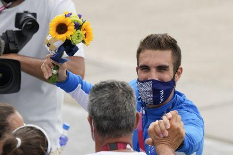Η υποδοχή του Ντούσκου στο Ολυμπιακό χωριό