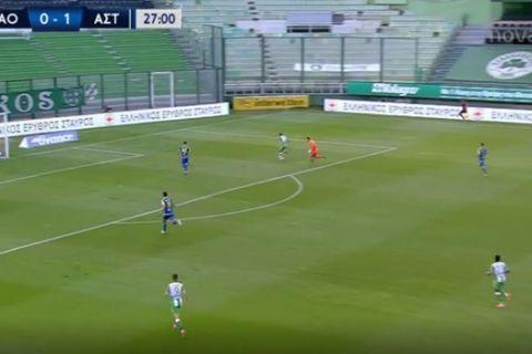 Το λάθος του Παπαδόπουλου για το 1-1 του Χατζηγιοβάνη στο Παναθηναϊκός - Αστέρας