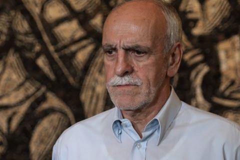 Ο Γενικός Γραμματέας του ΣΕΓΑΣ, Βασίλης Σεβαστής, σε δηλώσεις μετά τη συνάντηση του με τον ΓΓ της ΚΕ του ΚΚΕ Δημήτρη Κουτσούμπα
