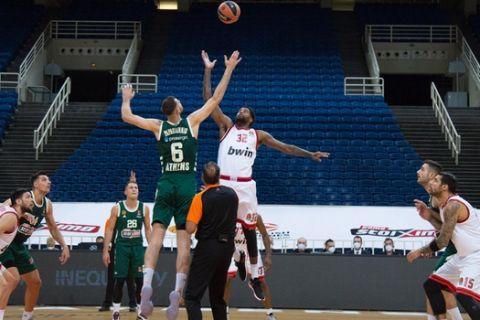 Το τζάμπολ του ματς Παναθηναϊκός - Ολυμπιακός στη EuroLeague