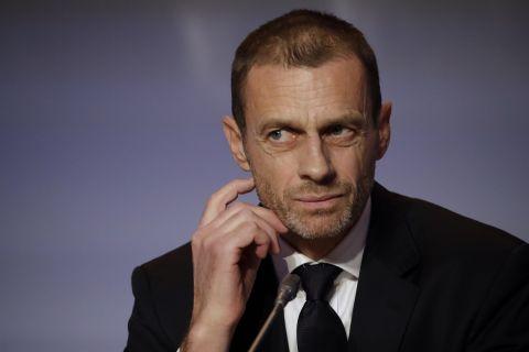 Ο πρόεδρος της UEFA, Αλεξάνταρ Τσέφεριν