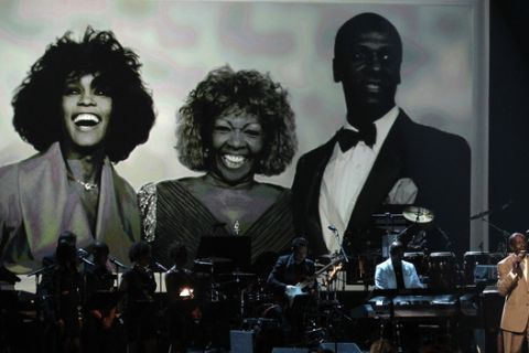 Gary Houston performs during the in memoriam for Whitney Houston at the BET Awards on Sunday, July 1, 2012, in Los Angeles. (Photo by Matt Sayles/Invision/AP)
