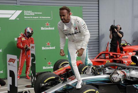 Ο Λιούις Χάμιλτον στο GP της Ιταλίας