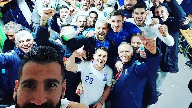 Η πανηγυρική selfie της Εθνικής Ελλάδας στ' αποδυτήρια