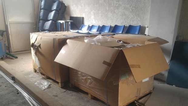 Το ΣΕΦ έστειλε 400 καθίσματα στο Εθνικό Αθλητικό Κέντρο Ηρακλείου