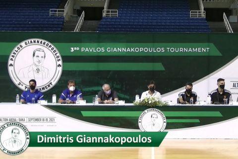 "Live Streaming: Η συνέντευξη Τύπου του τουρνουά ""Παύλος Γιαννακόπουλος"""
