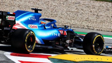 Fernando Alonso (ESP) Alpine F1 Team A521. Spanish Grand Prix, Saturday 8th May 2021. Barcelona, Spain.